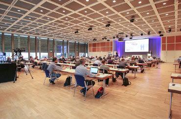 Vorschaubild vom Saal der CE-Praxistage 2021