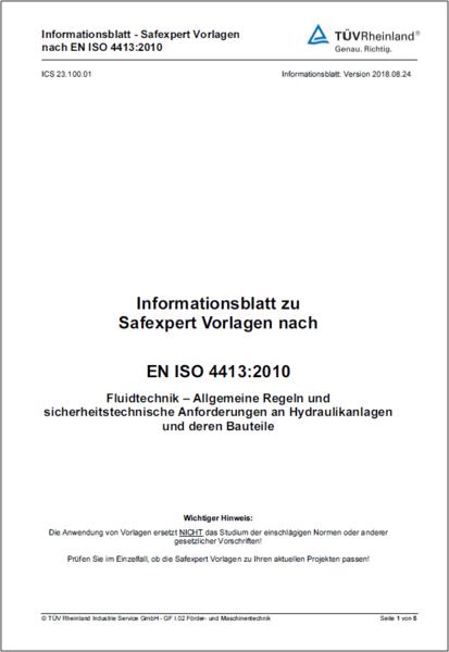 EN ISO 4413 Informationsblatt