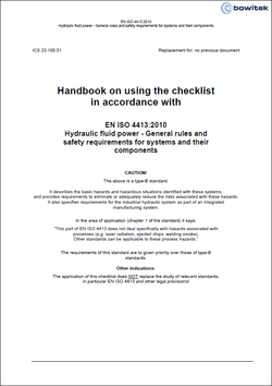 Handbook for the application of the checklist according to EN ISO 4413:2010 Fluid technology