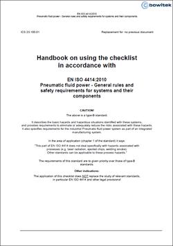 Checklist according to EN ISO 4414:2010